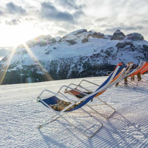 deckchair on mountain